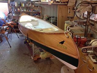 Finished Pink Marine Canoe.JPG