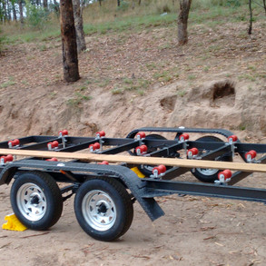 Car trailer without deck