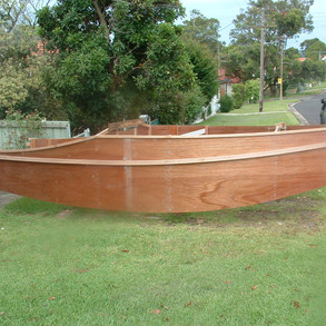 Hull finished ready for painting with Aquacote.
