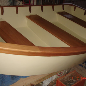 The Interior all finished looking from the stern.