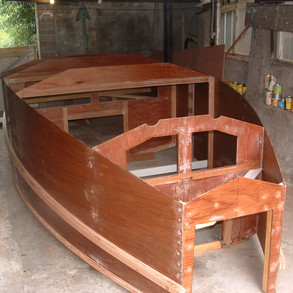 Frames and Side hull panels finished & removed from building frame