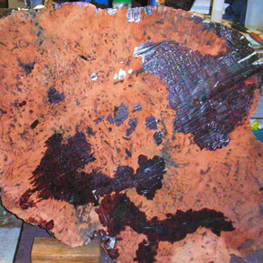 Remove the support and duct tape from the underside of burl.