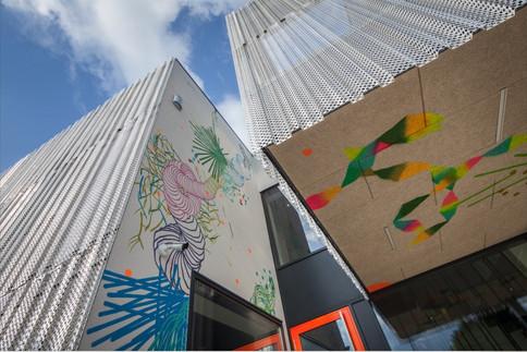 Habillage bâtiment @Alleva Luxembourg