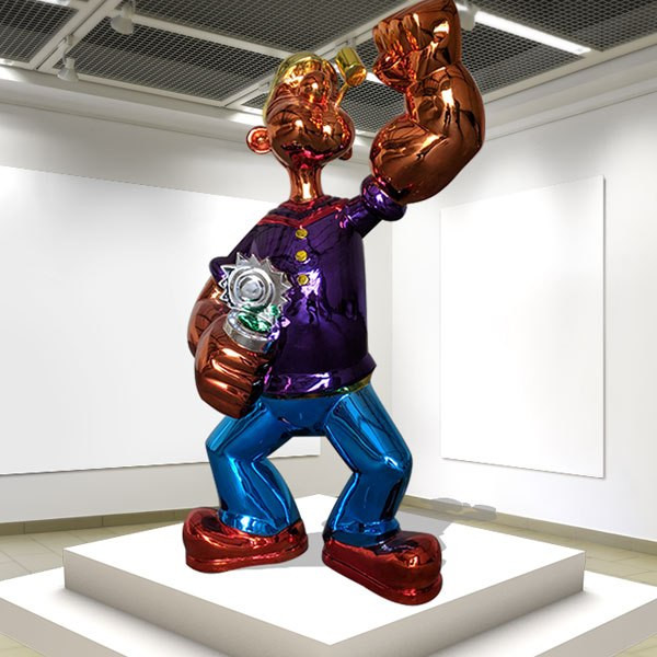 Famous-Fiberglass-Jeff-Koons-Popeye-Statue-Replica-for-Sale-CSS-87