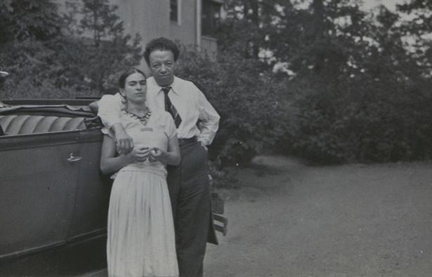 Фріда із чоловіком, Дієґо