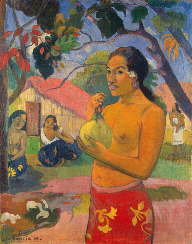 женщина, держащая плод 1893