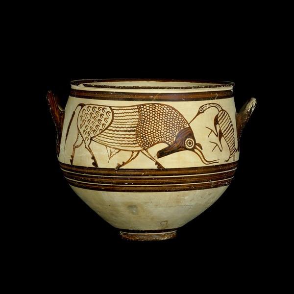 Мікенська ваза з биком та птахою. Джерело: British Art Museum