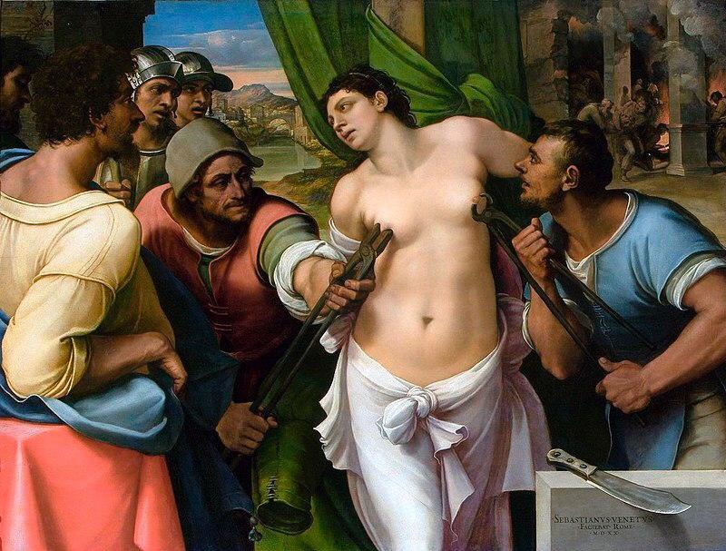 Тортури святої Агати, Себастьяно дель Пйомбо