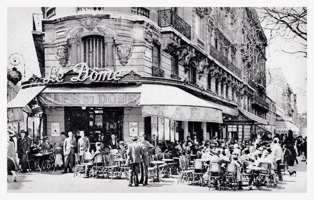 Cafe du Dome, Paris. Early 20th century.