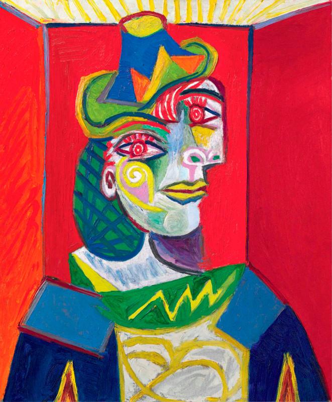 Пабло Пикассо. Женский бюст (Женщина с сеткой на волосах)