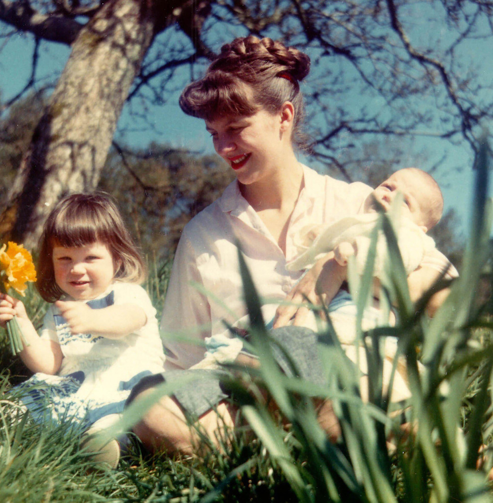 Sylvia Plath with children