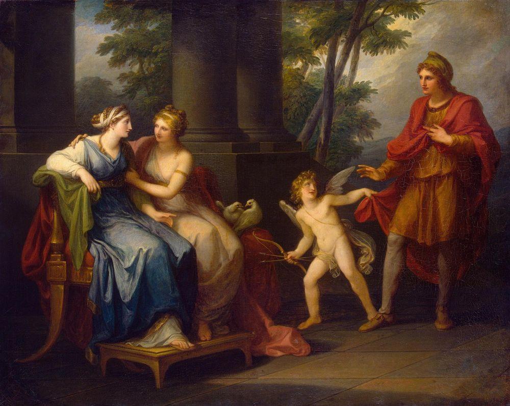 Венера вмовляє Єлену любити Паріса, Ангеліка Кауфман