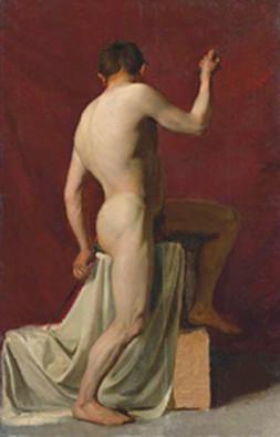 Портрет відвернутого оголеного чоловіка