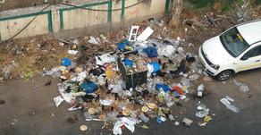 Garbage dumped on street
