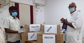 ISKCON provides relief materials to Corporation