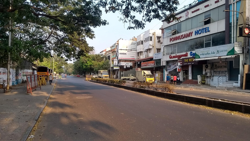 The ever M.G Road dons a serene look