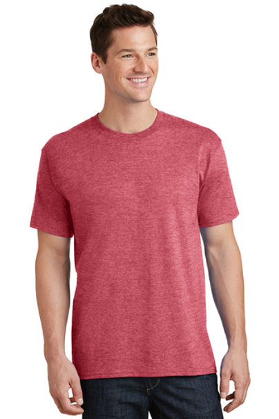 Adult Cotton Tee  (Heather Red)