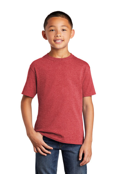 Youth Core Cotton Tee (Heather Red)