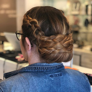 Who doesnu2019t love a braided updo_ Sim