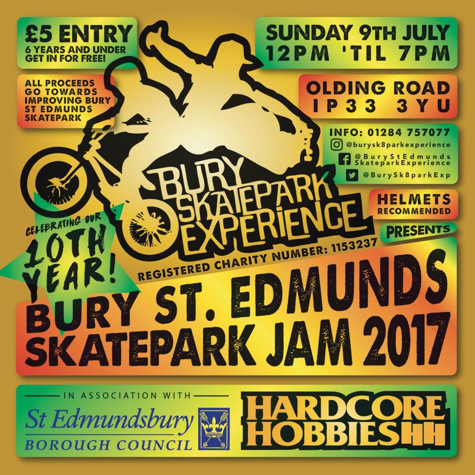 Bury St Edmunds Skatepark Jam 2017