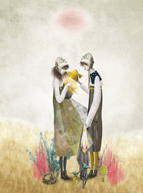 The scarecrow and the rosebush