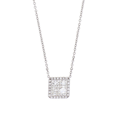 Mika Diamond Square Pendant