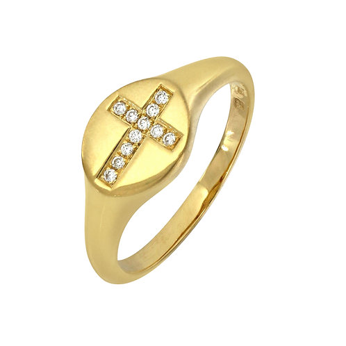 BL Icons Cross Signet Ring
