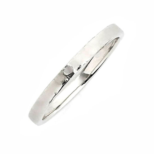 Hammered Midi 14K Ring