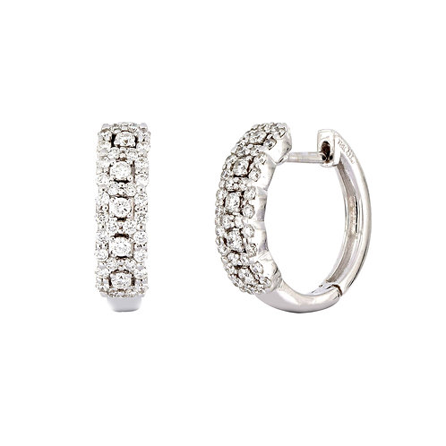 Tri-Row French Set Small Hoops
