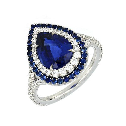 Teardrop Sapphire Ring