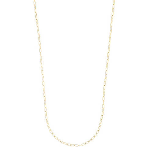14K Gold Textured Long Chain
