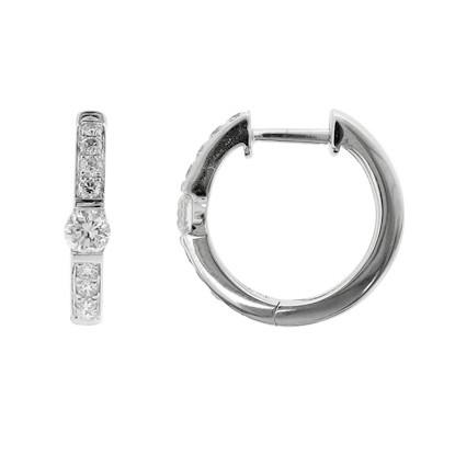149c742ad75a24 Bony Levy Linea Diamond Huggie Earrings