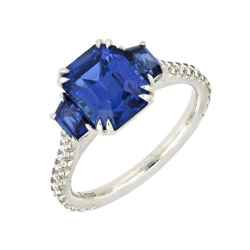 Three Sapphire Stone Ring