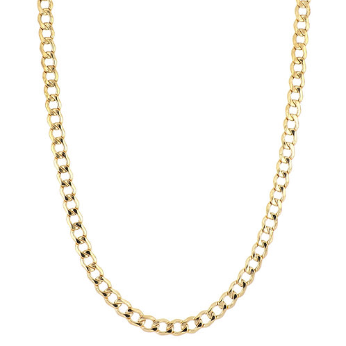 BL MEN'S 14K  FLAT CURVED LINK CHAIN