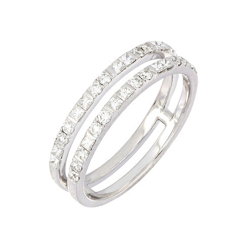Two Row Open Diamond Ring
