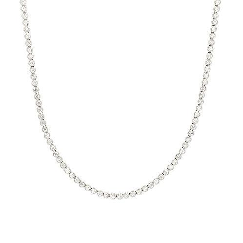 Bezel Diamond Tennis Necklace