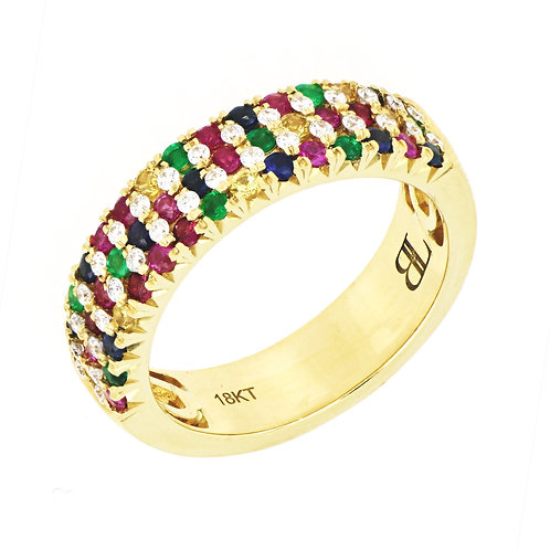 Mixed Stones Wide Band
