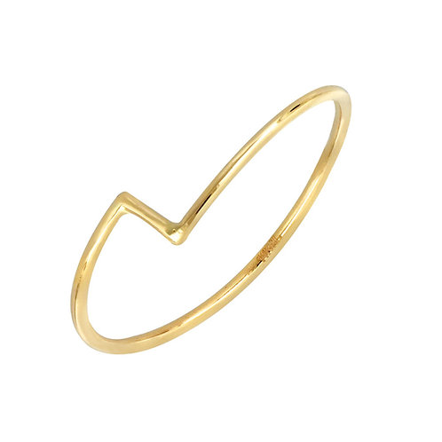 Thin Zigzag Stackable Ring