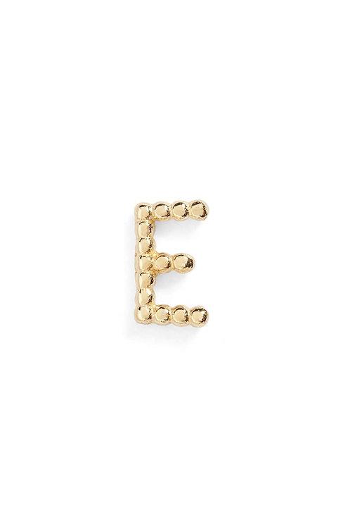 """Single Initial 14K Stud - """"E"""""""