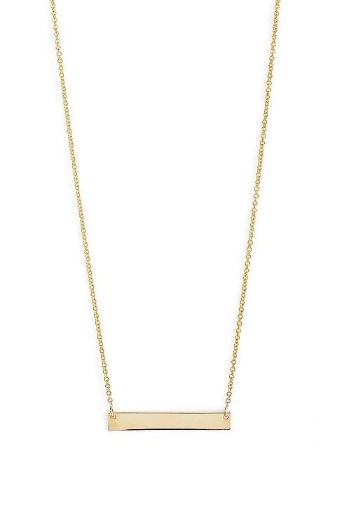 14K Gold Bar Pendant