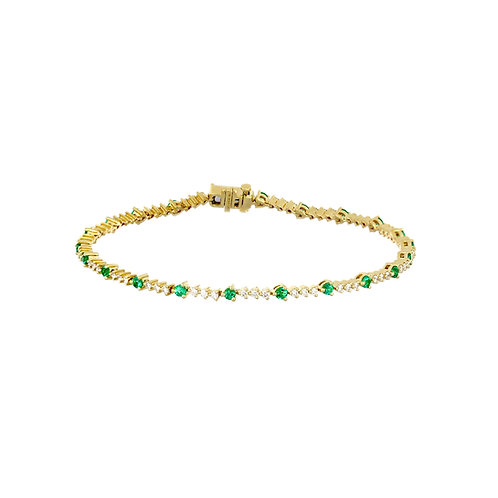 El Mar Emerald and Diamond Bracelet