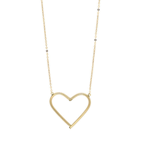 Bony Levy Gold Large Open Heart Pendant