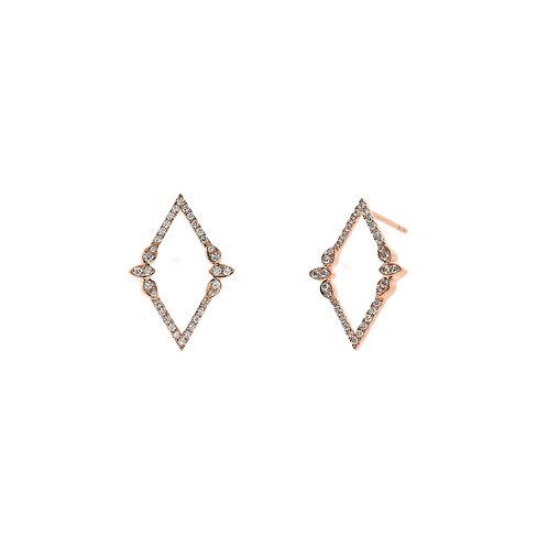Open Diamond Nature Earrings