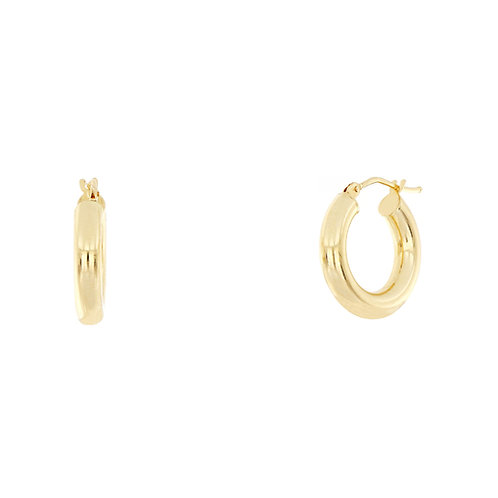 Bony Levy Gold Polished Thick Hoops