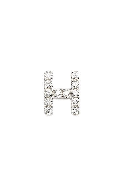 "Single Initial Diamond Stud - ""H"""