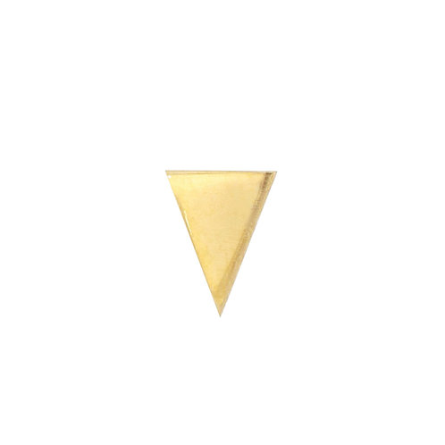 Bony Levy Gold Single Triangle Stud