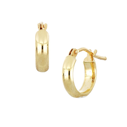Bony Levy Gold Wide Huggie Hoops