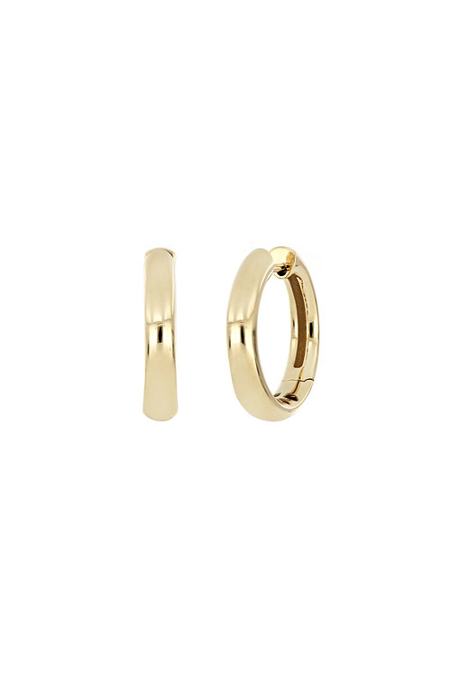 14K 23MM HIGH POLISHED ROUNDED HOOPS