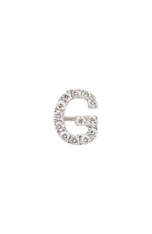 "Single Initial Diamond Stud - ""G"""