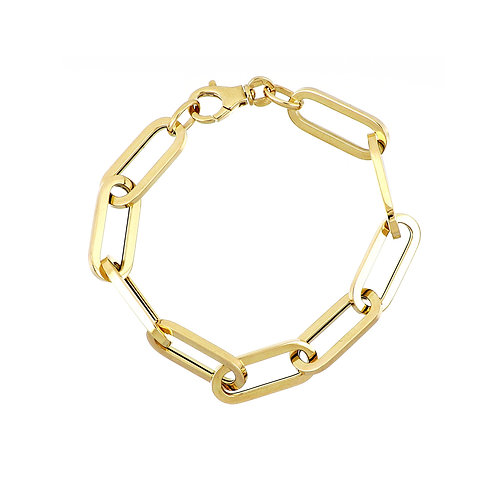 14K Gold Thick Chain Bracelet